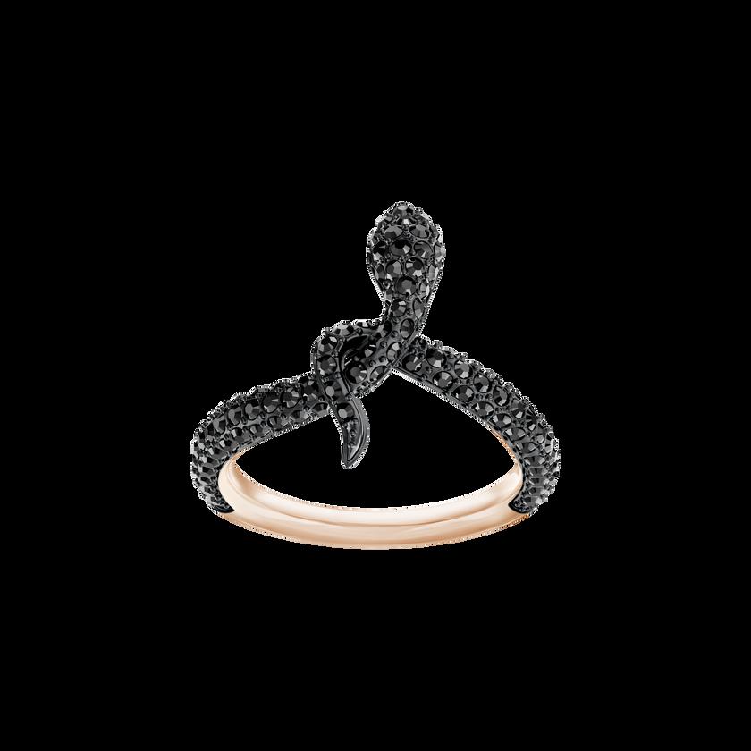 Leslie Ring, Black, Rose Gold Plating