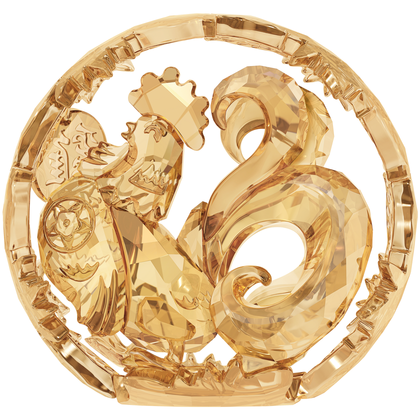 Chinese Zodiac - Rooster , Gold Tone