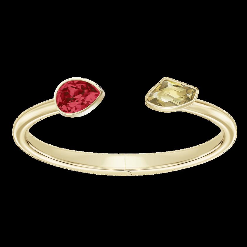 Prisma Bangle, Multi-Colored, Gold Plating