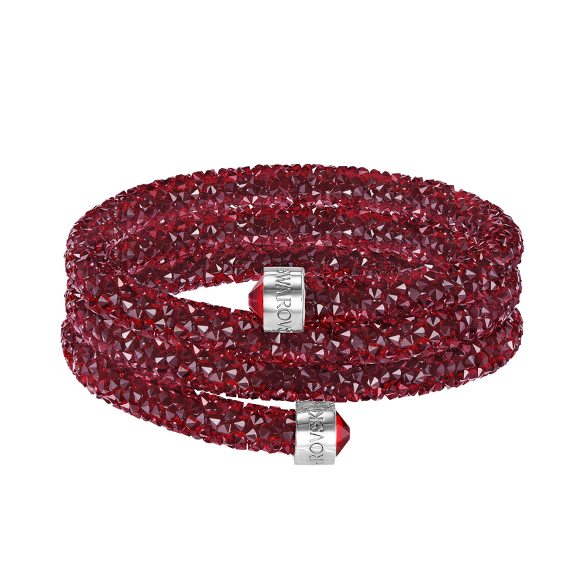 Crystaldust Bangle, Red, Stainless steel