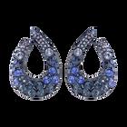 Magnetized Pierced Earrings, Multi-colored, Blue PVD coating