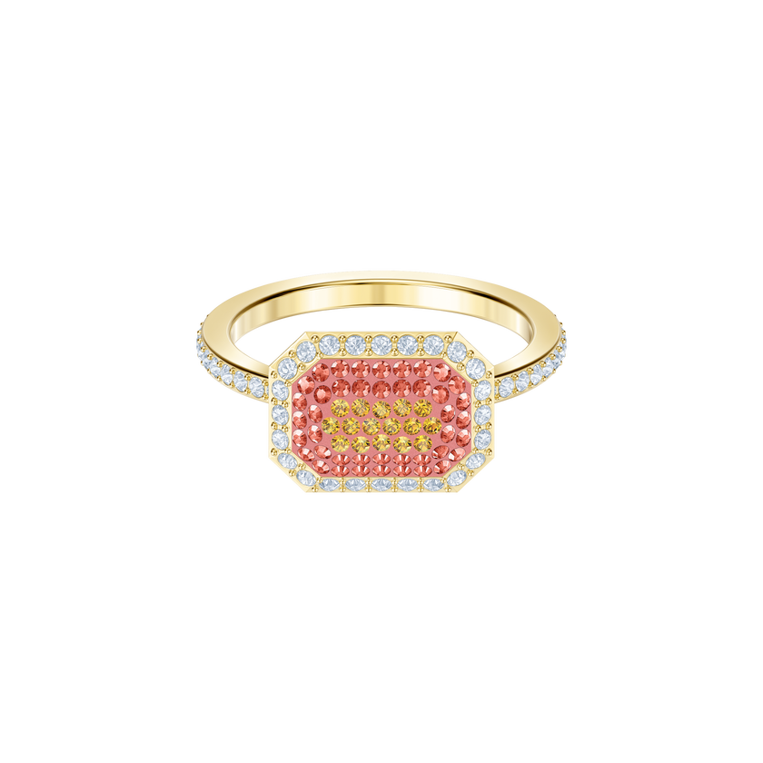 No Regrets Ring, Multi-colored, Gold plating