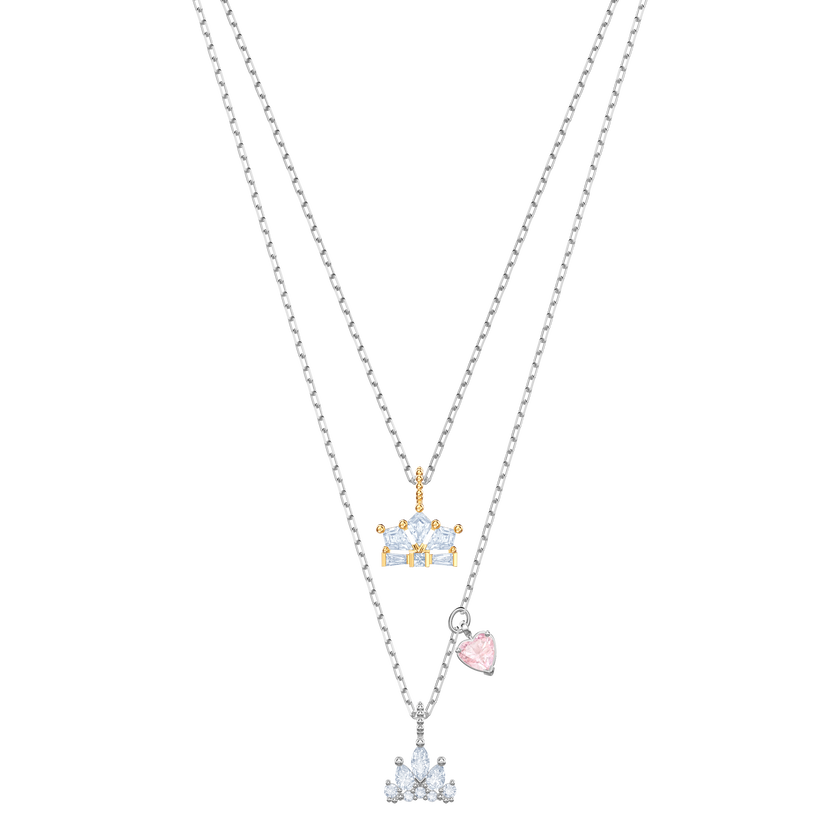 Out of this World Queen Necklace, White, Mixed plating
