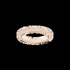 Stone Mini Ring, Pink, Rose Gold Plating