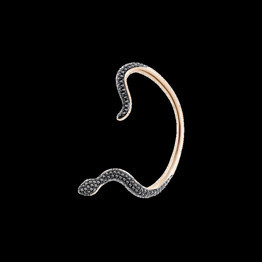 Leslie Pierced Earrings, Teal, Rose gold plating