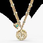 Swarovski Symbolic Lotus Pendant, Green, Gold-tone plated