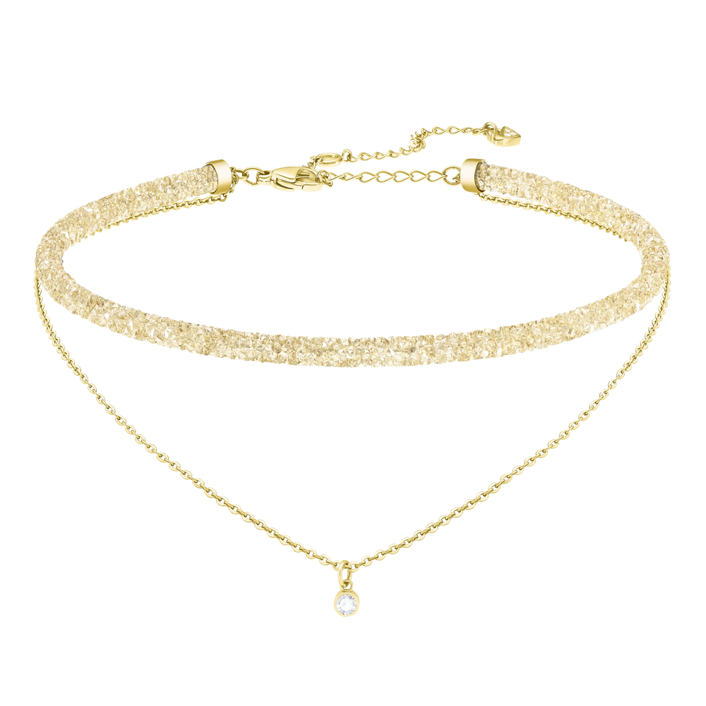 Long Beach Necklace, Golden, Gold Plating