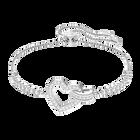 Lovely Bracelet, White, Rhodium Plating