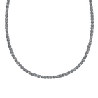 Tennis Deluxe Necklace, Gray, Ruthenium plated