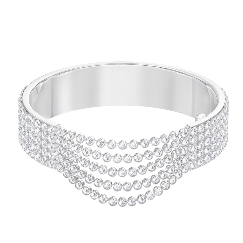 Fit Bangle, White, Stainless steel