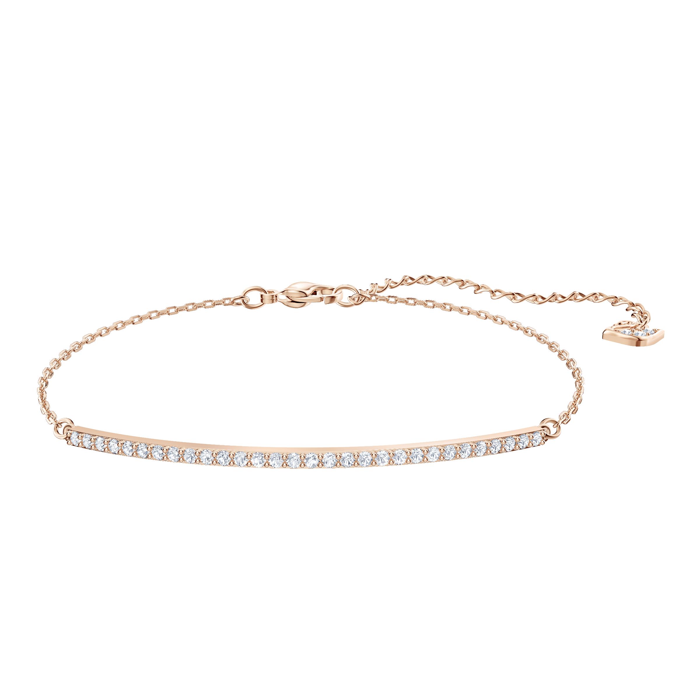 Only Bracelet, White, Rose gold plating