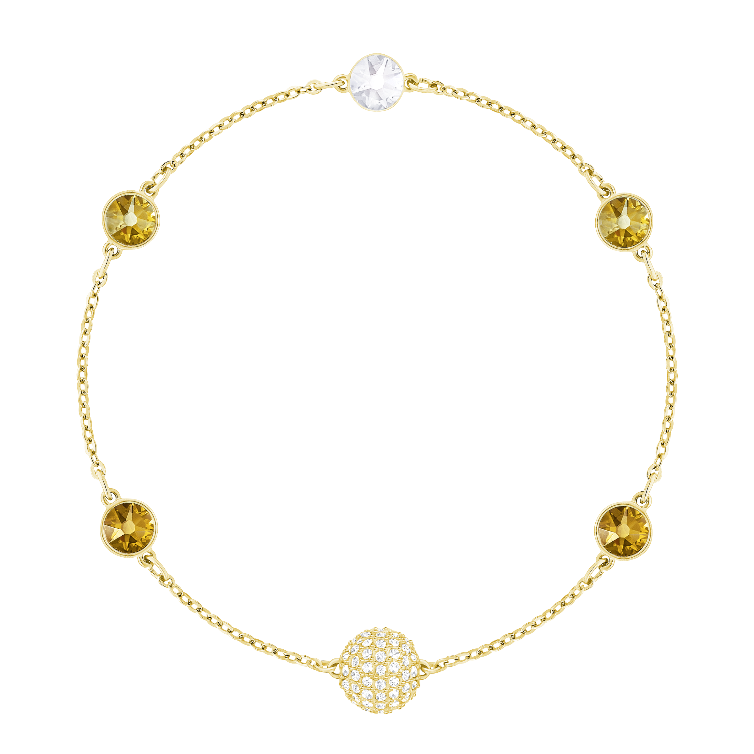Swarovski Remix Collection Golden Strand, Multi-colored, Gold-tone plated