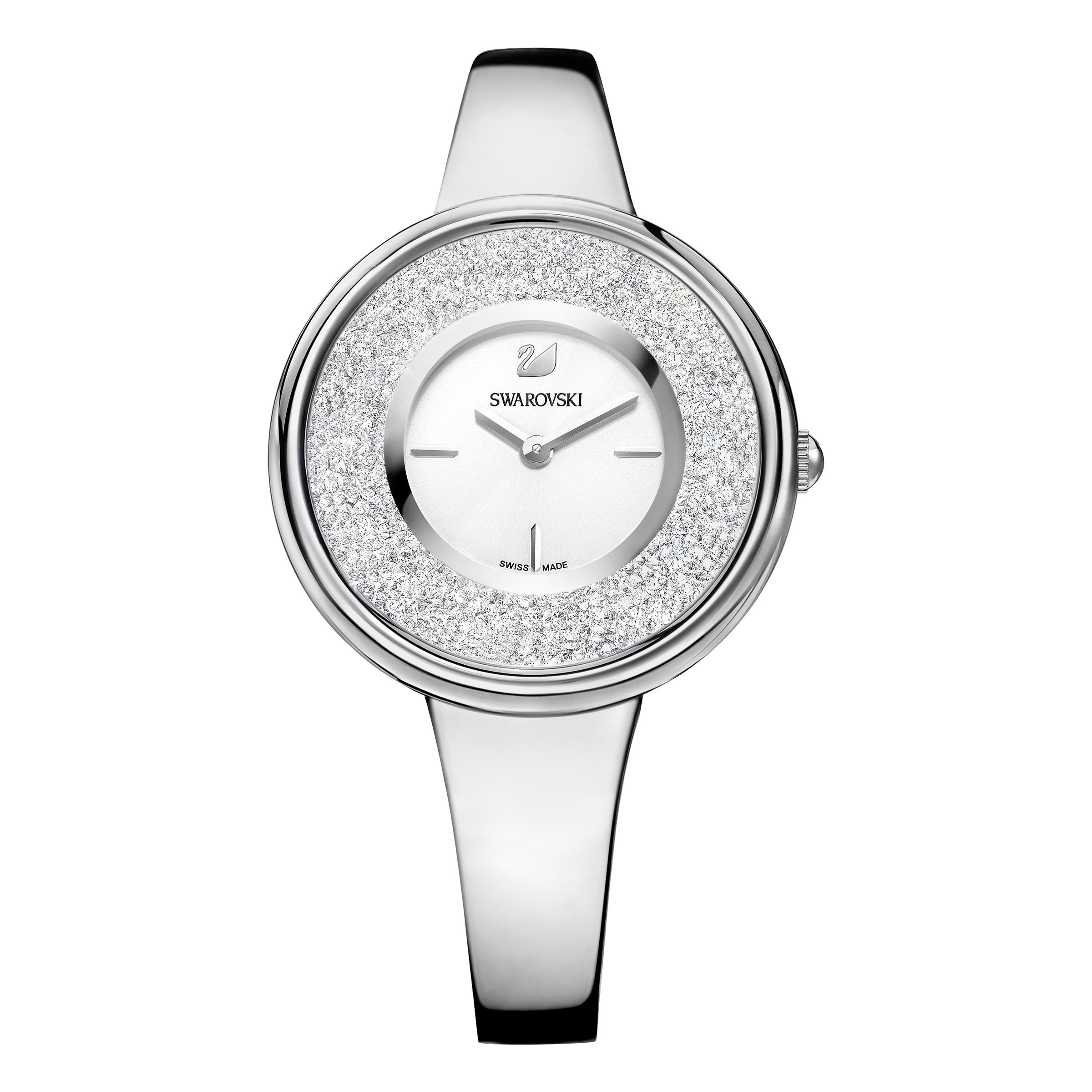 Crystalline Bracelet Watch, Stainless Steel
