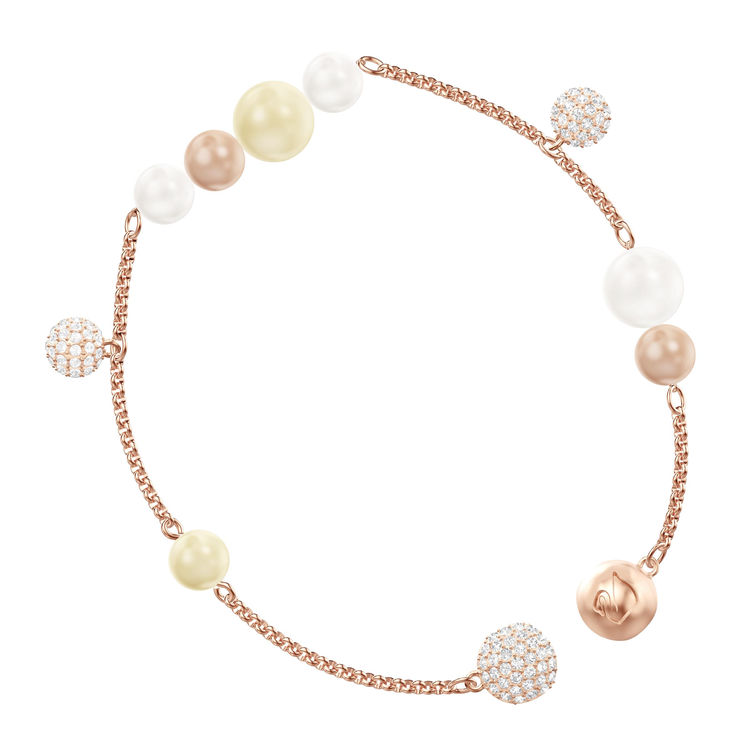 Swarovski Remix Collection Pearl Strand, Medium, Multi-colored, Rose gold plating