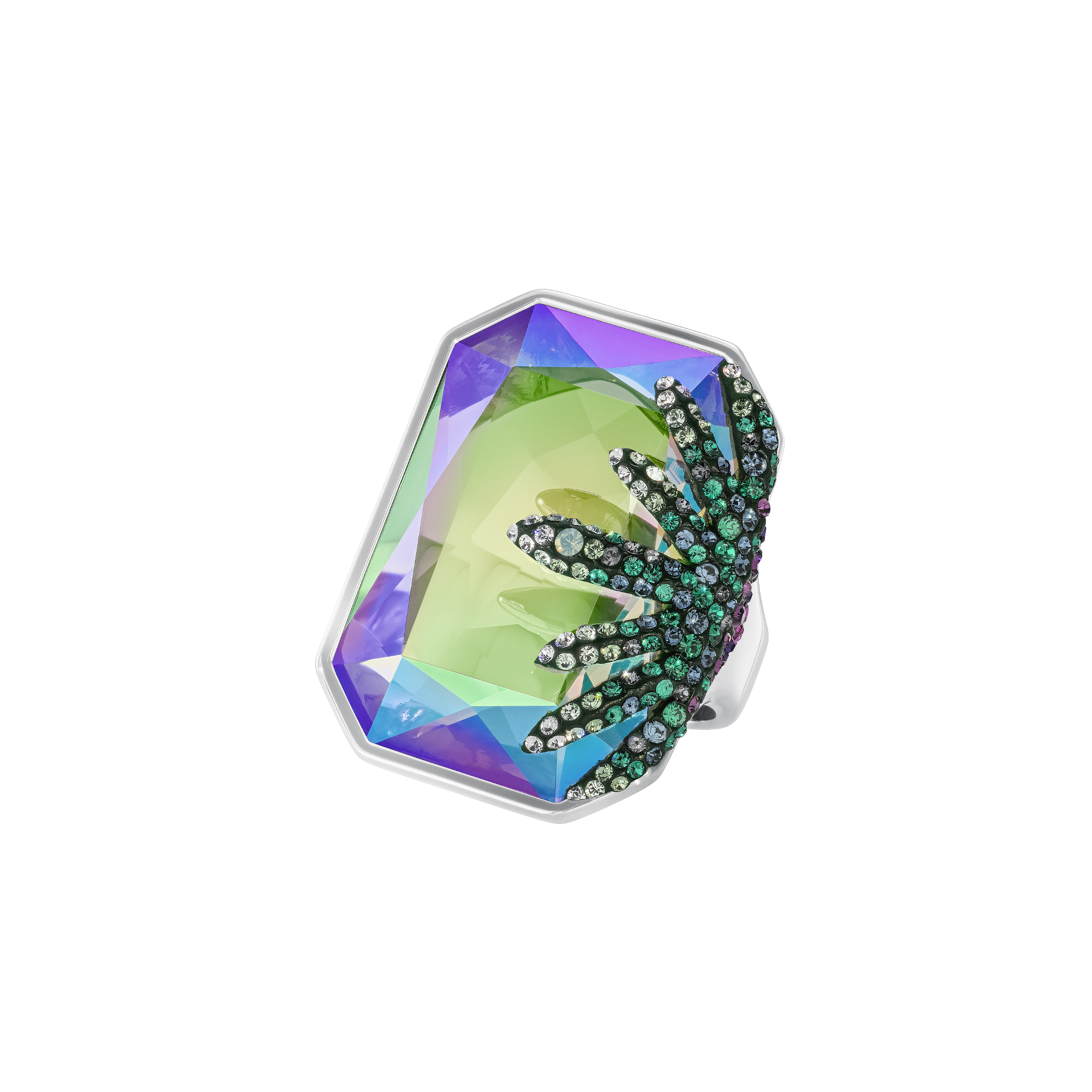 Gisele Ring, Multi-colored, Palladium Plating