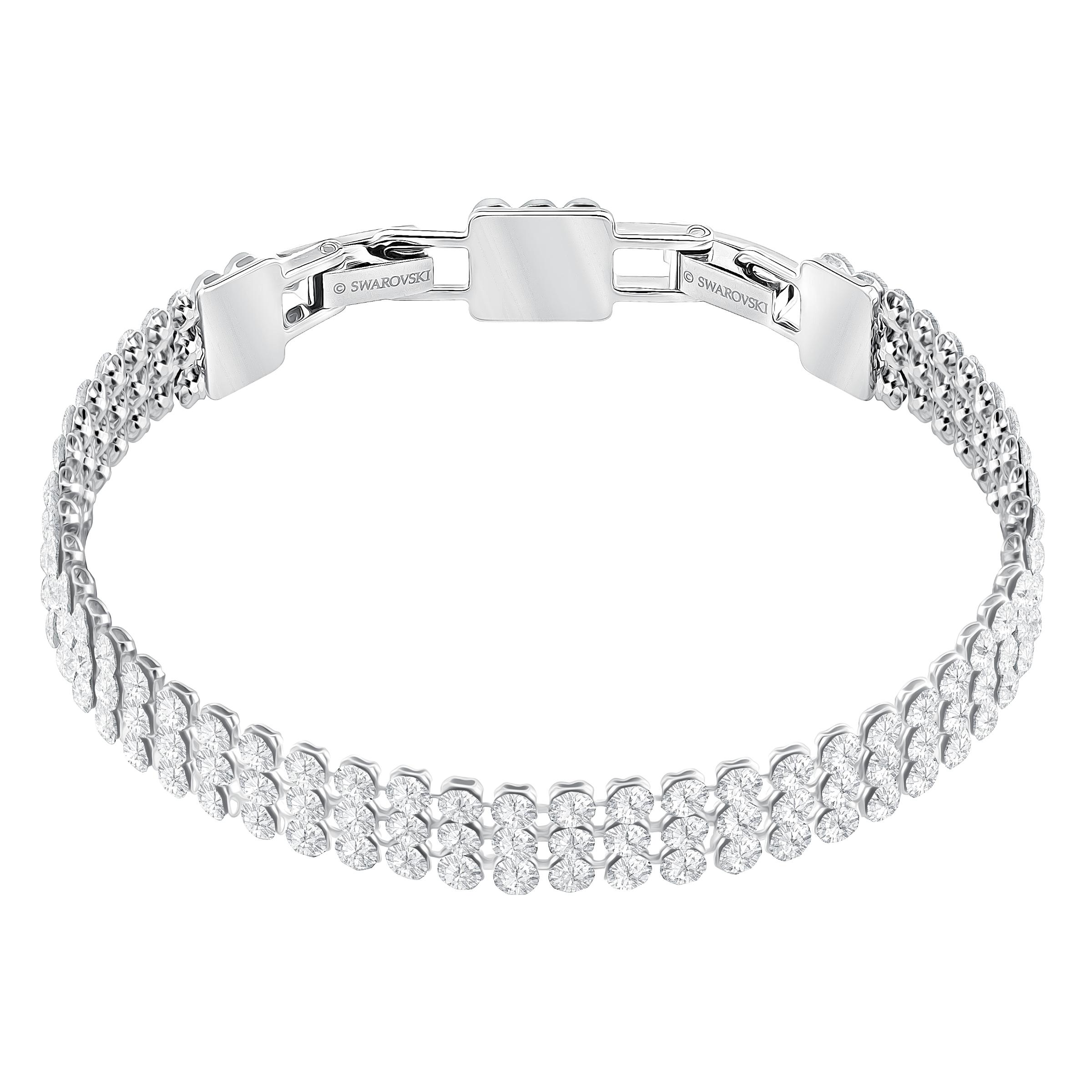 Fit Bracelet, White, Palladium plated