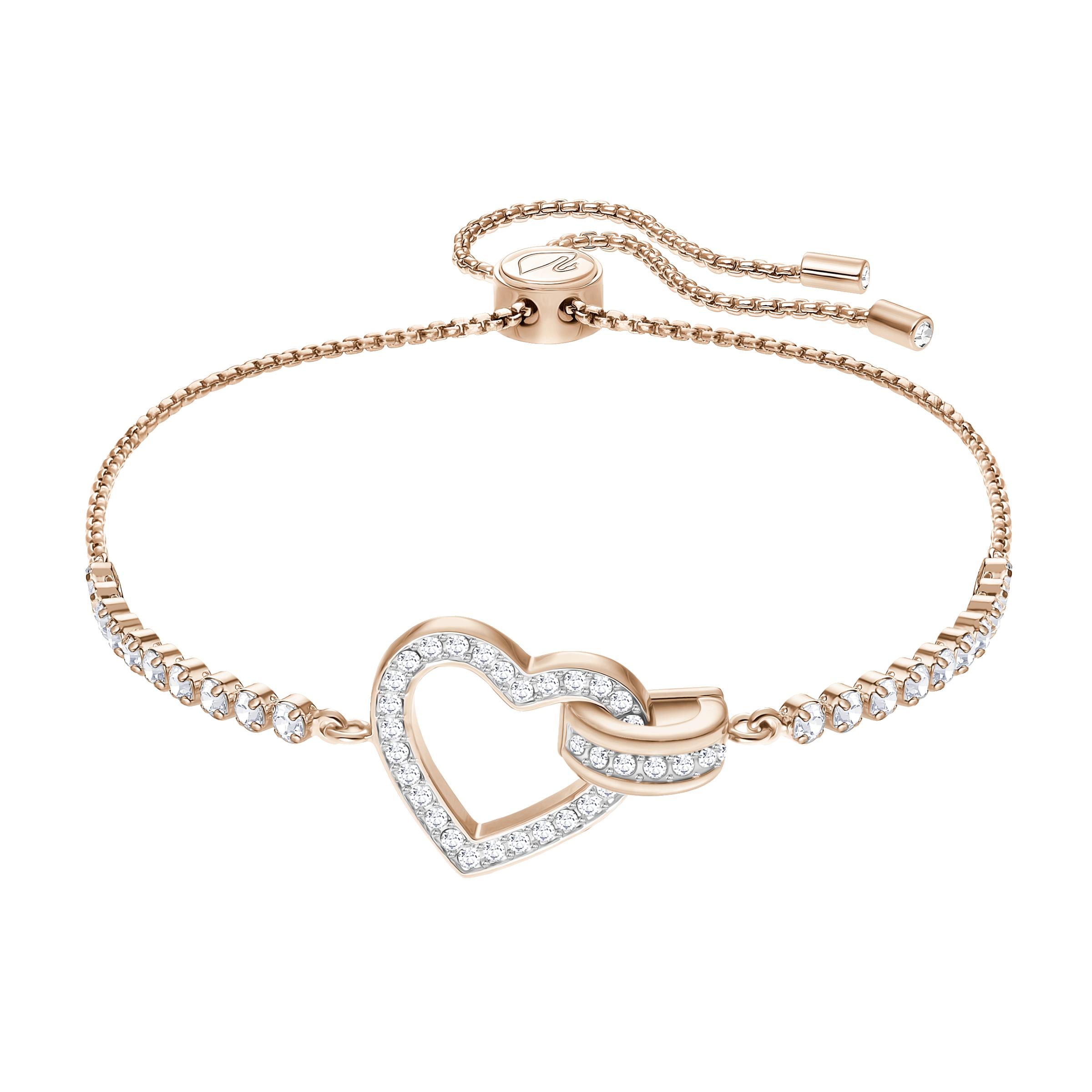 Lovely Bracelet, White, Rose Gold Plating