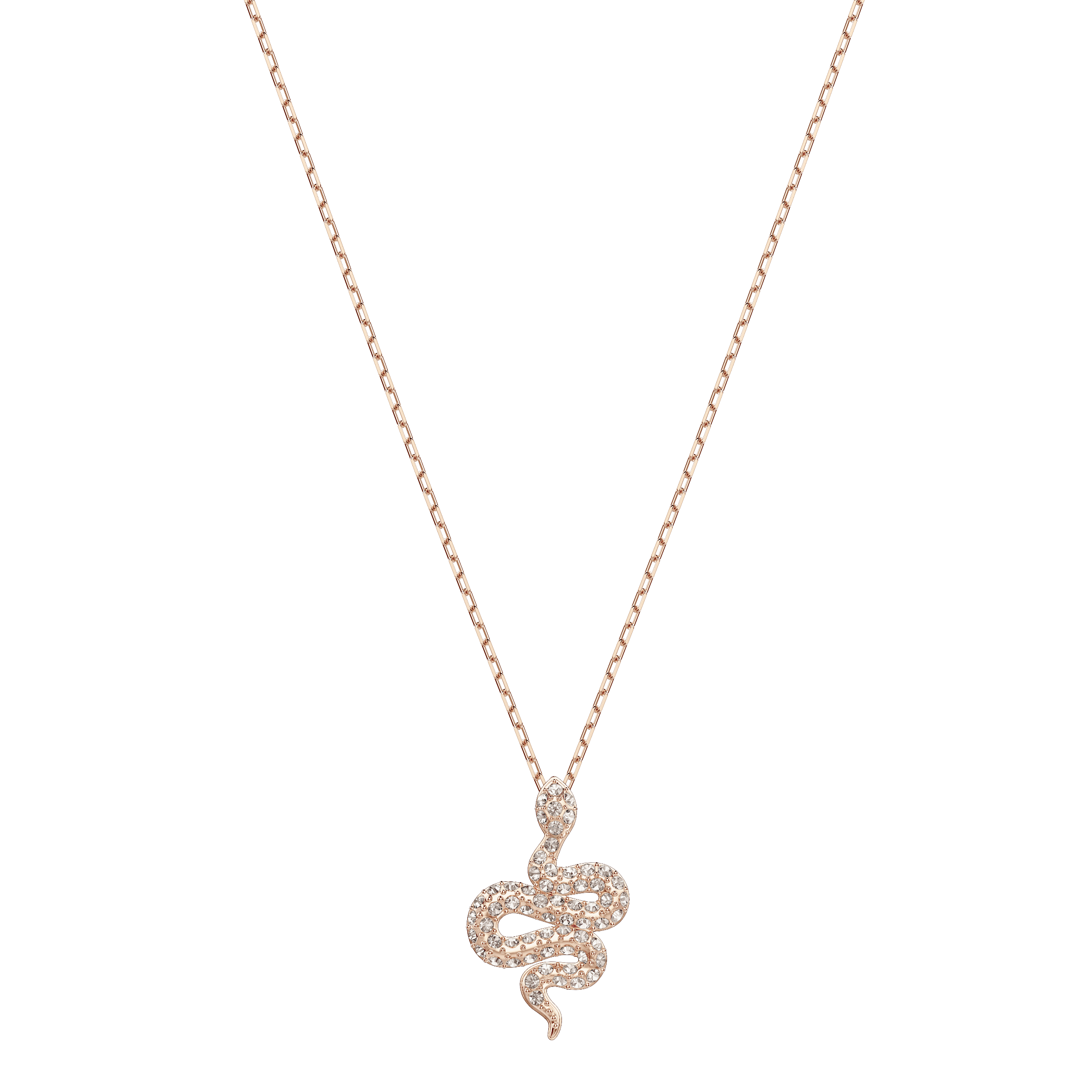 Leslie Pendant, Pink, Rose-gold tone plated