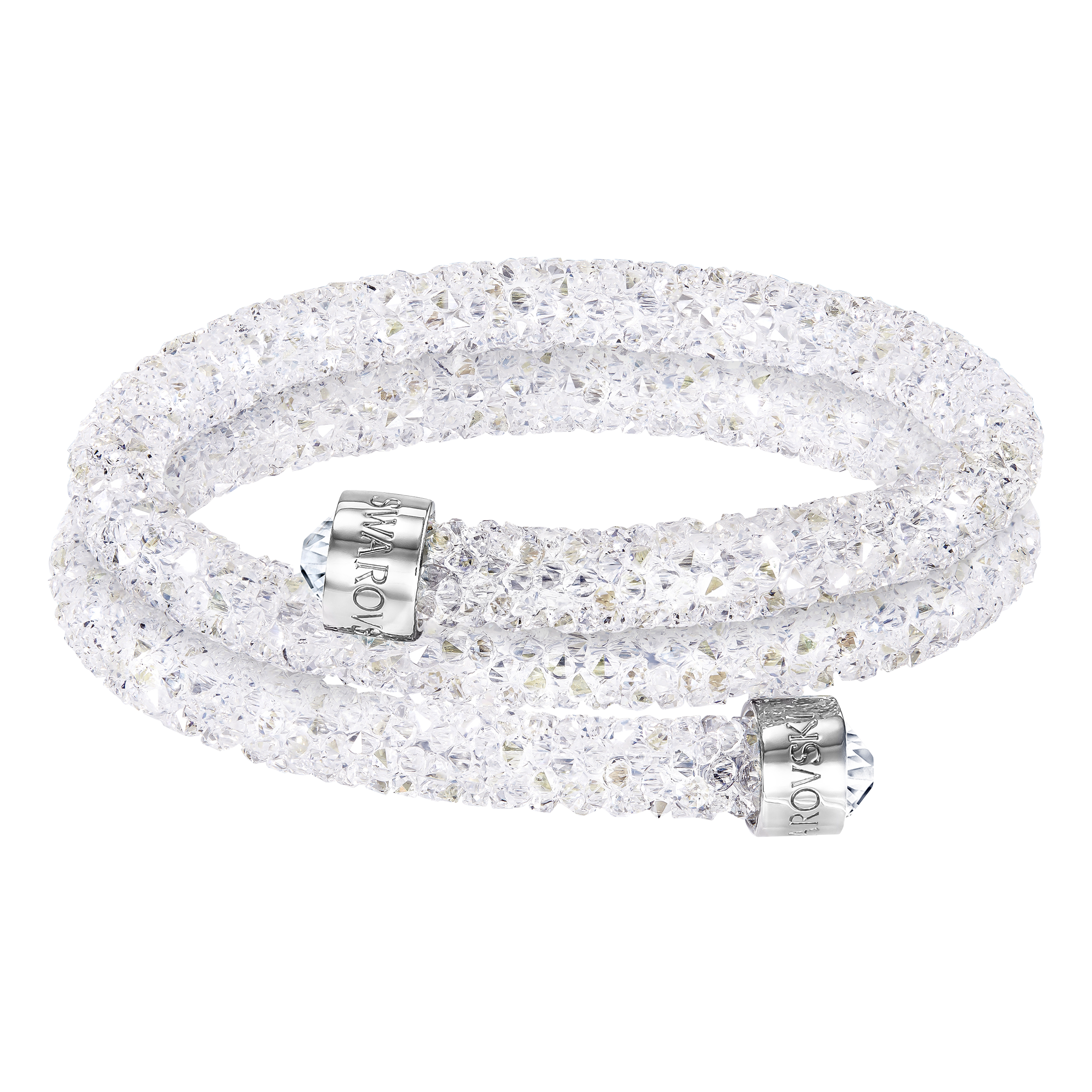 Crystaldust Double Bangle, White
