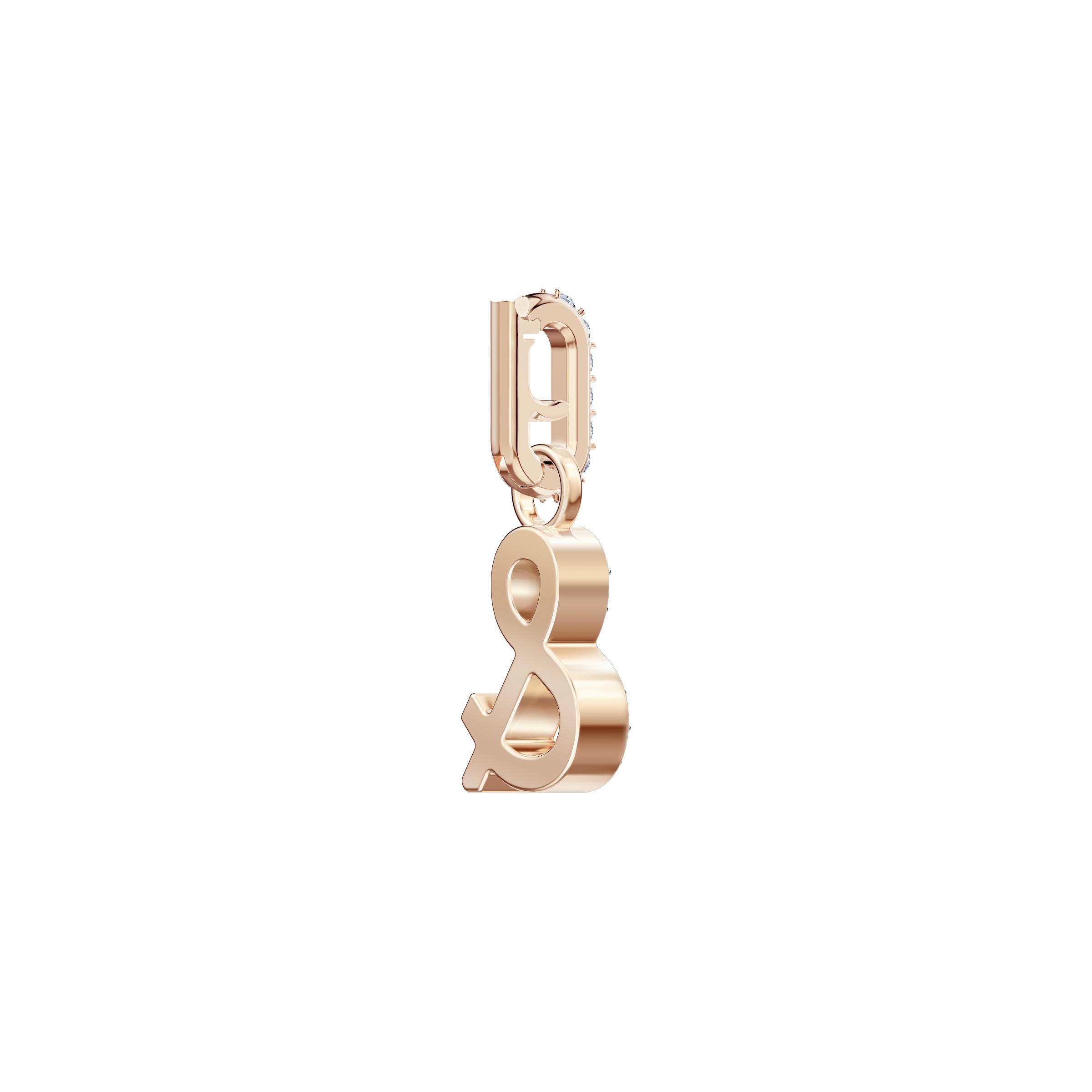 Swarovski Remix Collection Charm &, White, Rose gold plating