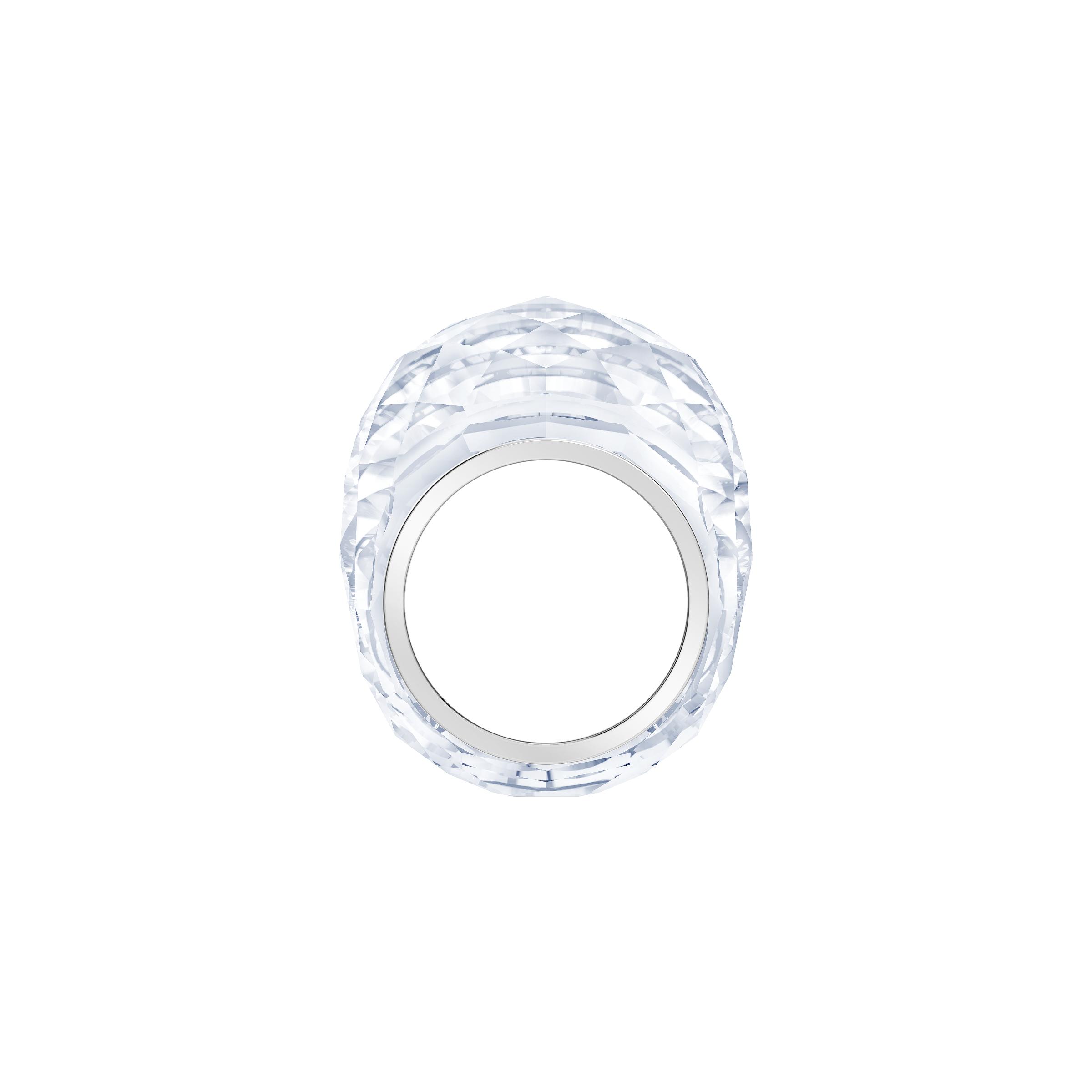Nirvana Ring, White, Stainless Steel