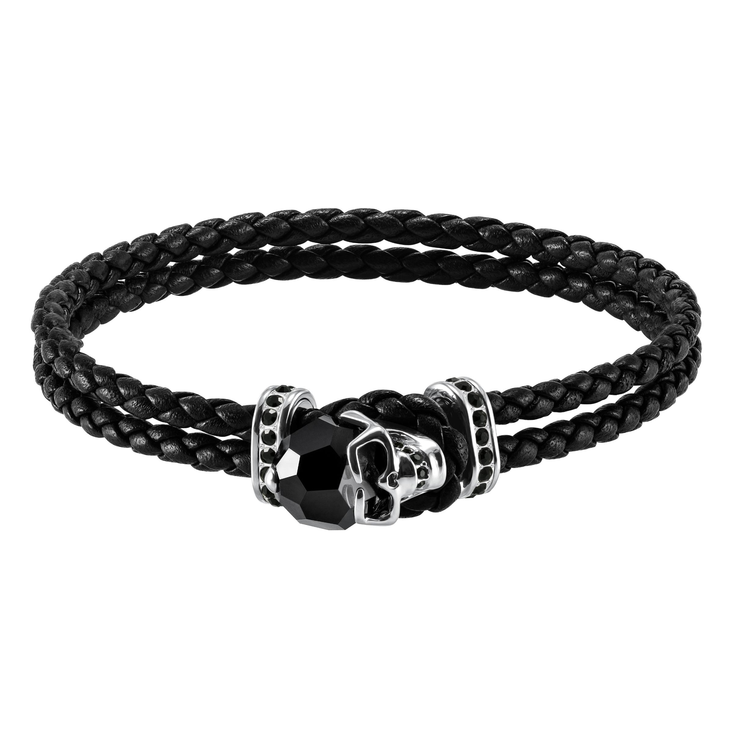 Taddeo Bracelet, Black, Palladium Plating