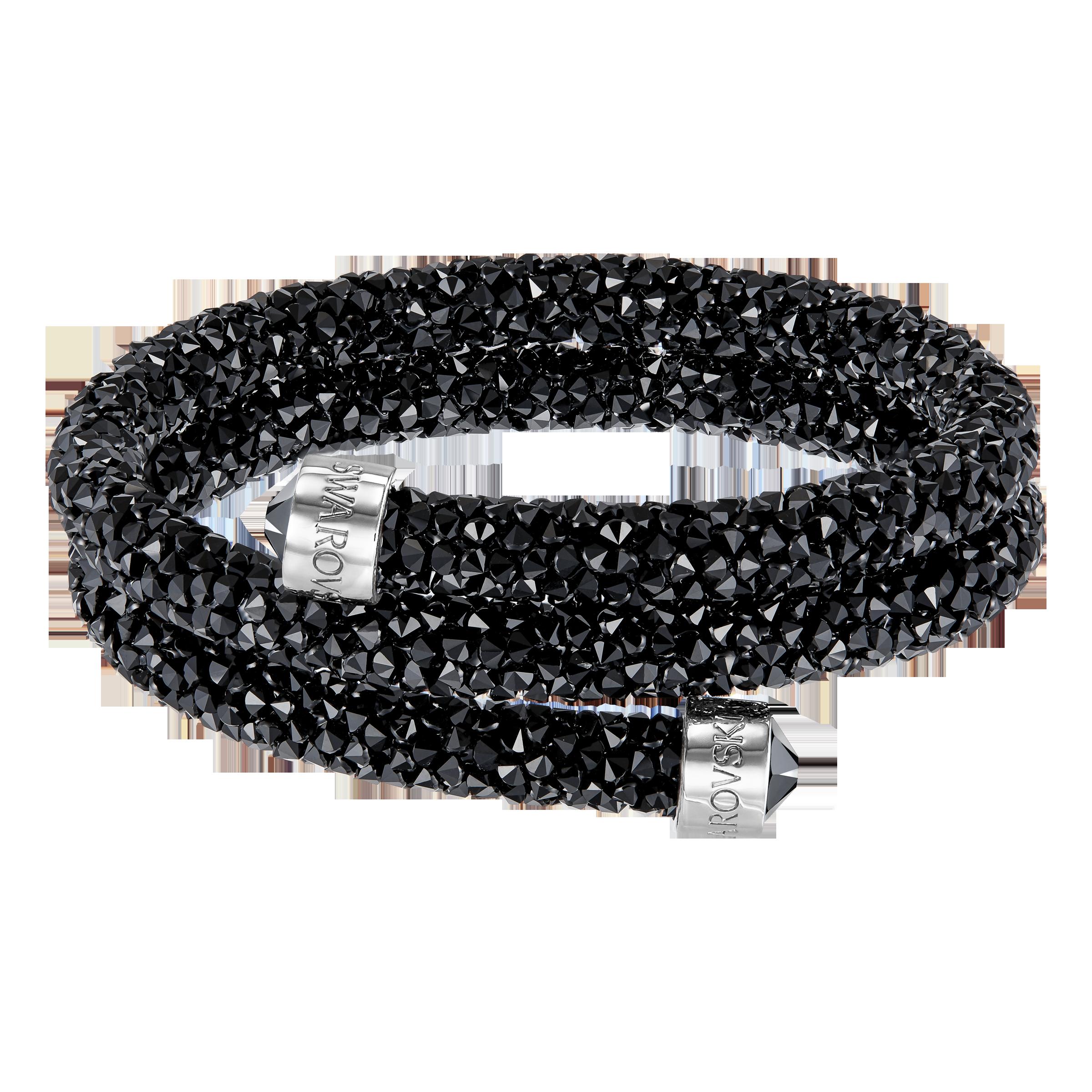 Crystaldust Double Bangle, Black