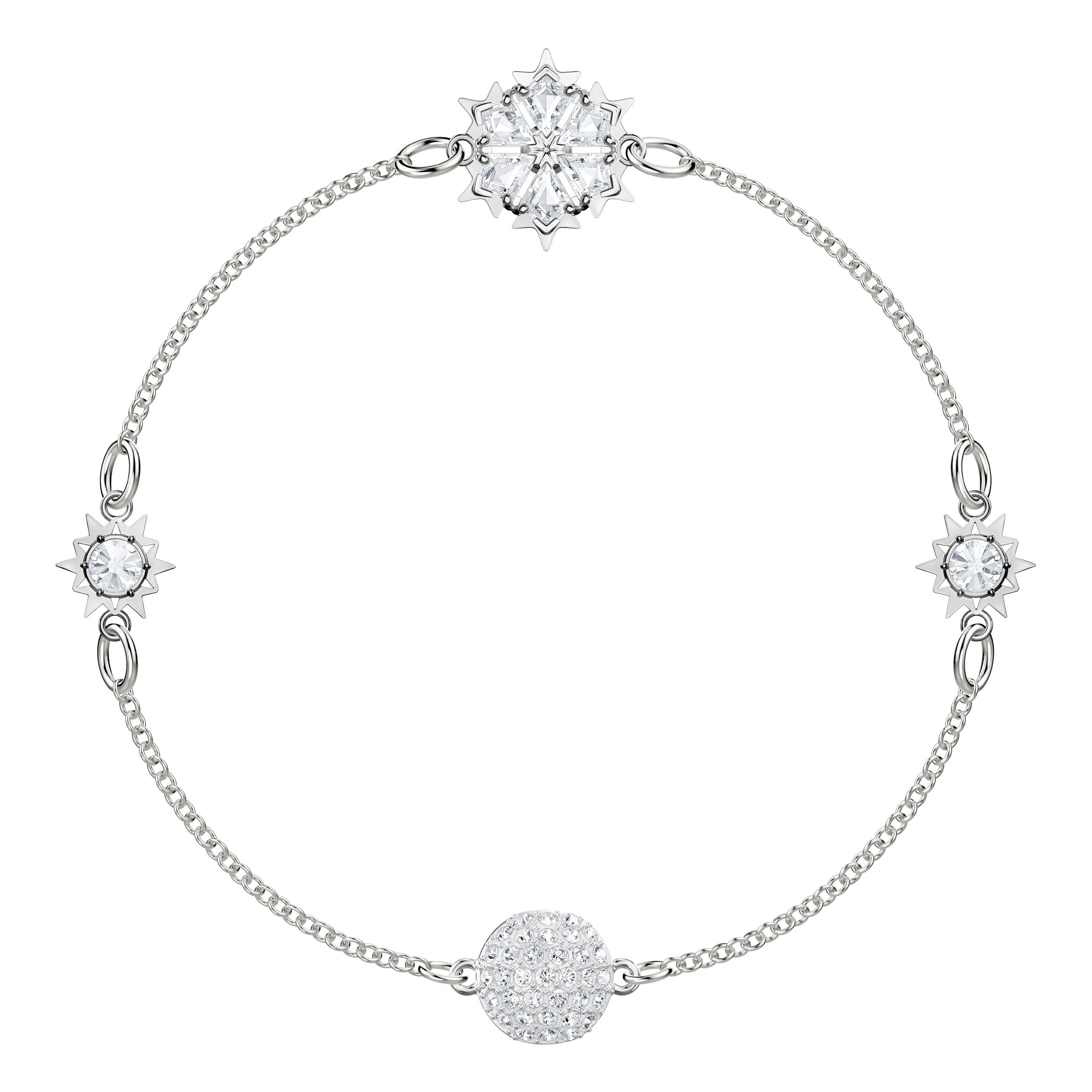 Swarovski Remix Collection Snowflake, White, Rhodium Plating
