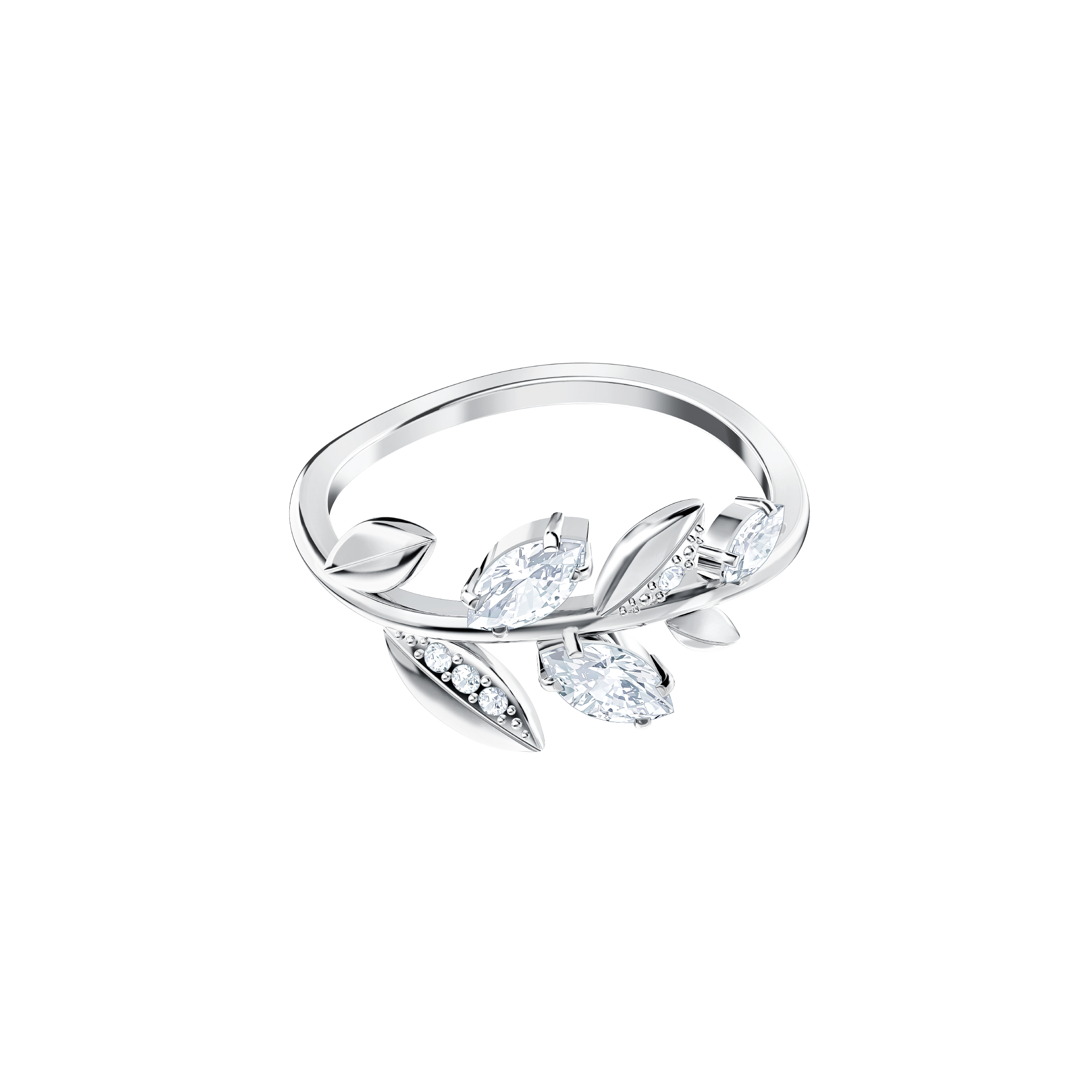 Mayfly Ring, White, Rhodium Plating