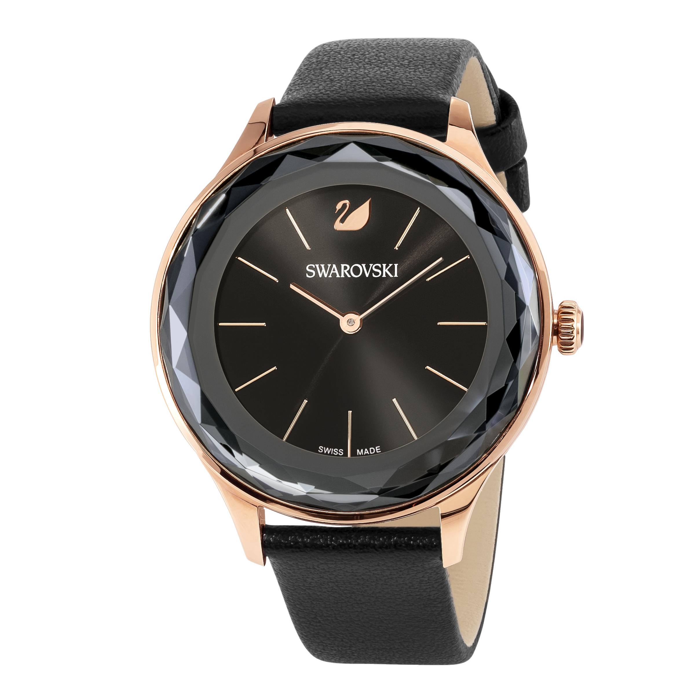 Octea Nova Watch, Black, Rose Gold Tone