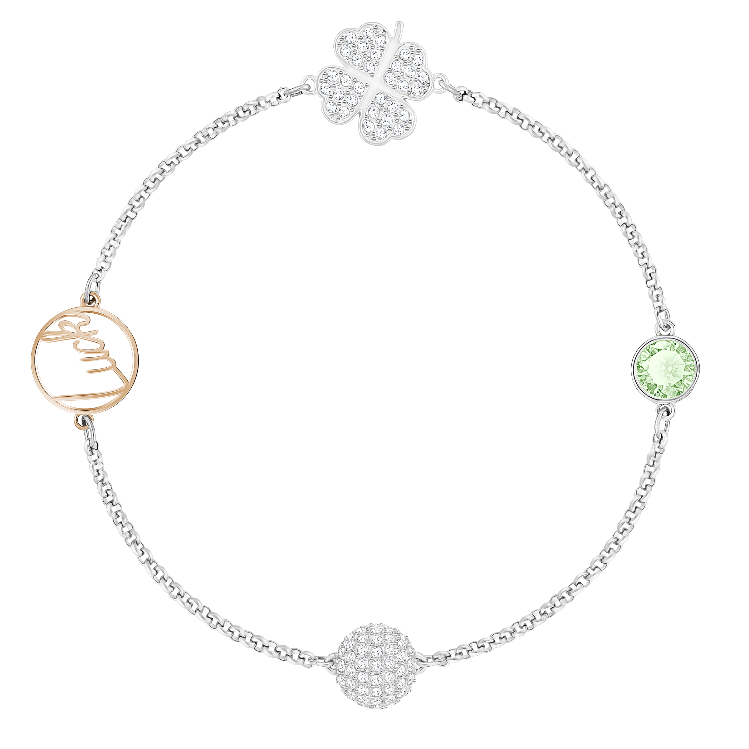 Swarovski Remix Collection, Clover Green, Mixed Plated