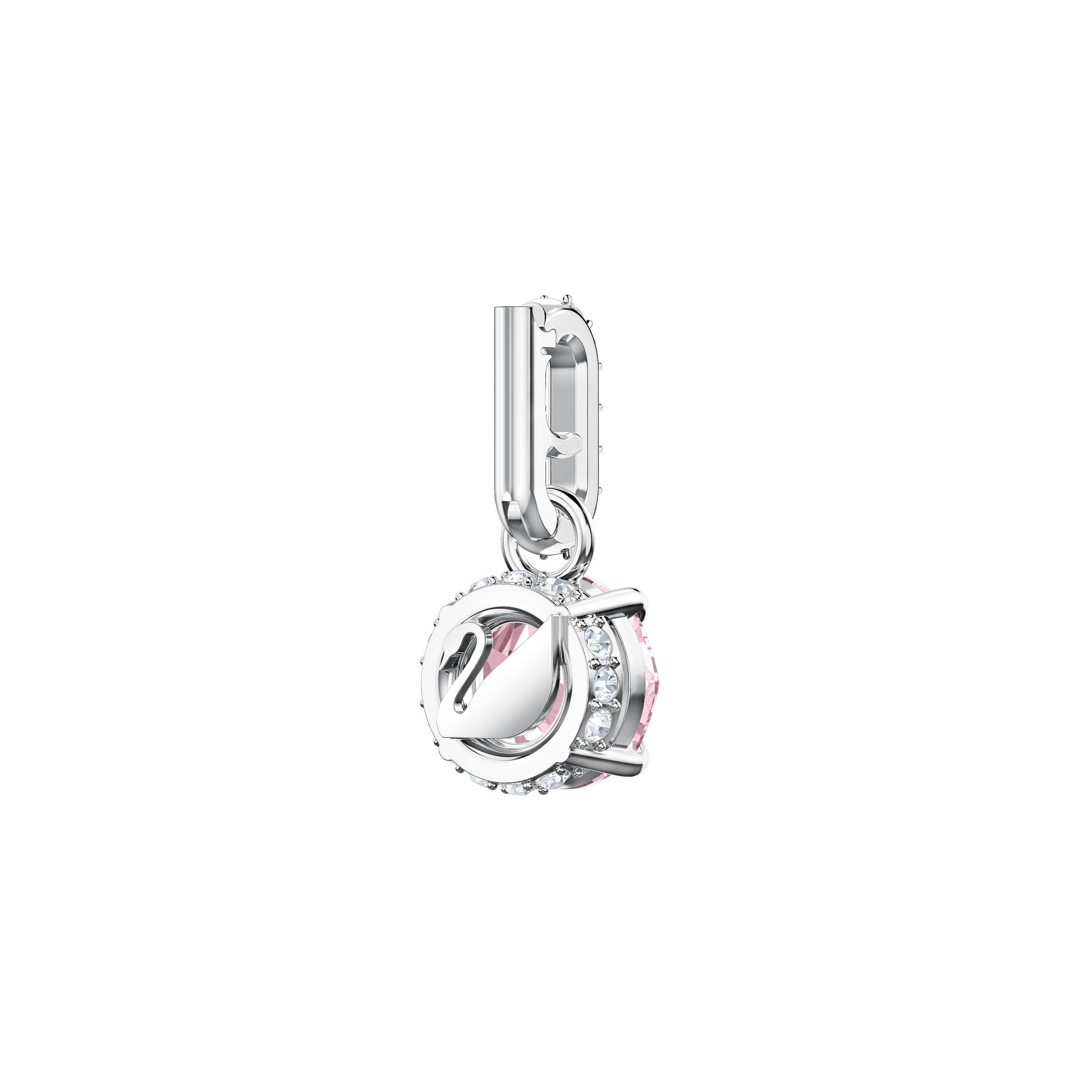 Swarovski Remix Collection Charm, October, Pink, Rhodium Plating