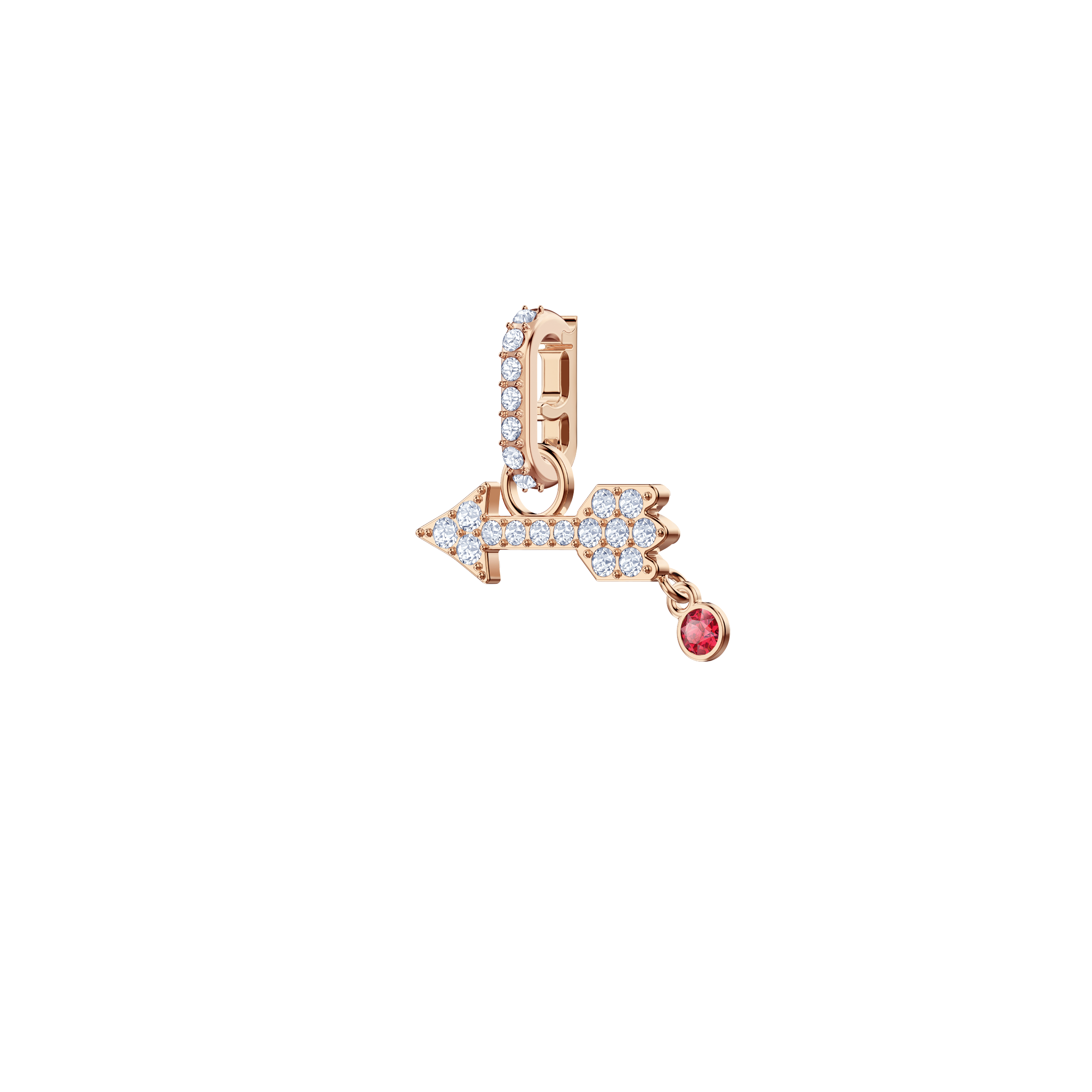 Swarovski Remix Collection Charm Arrow, White, Rose gold plating