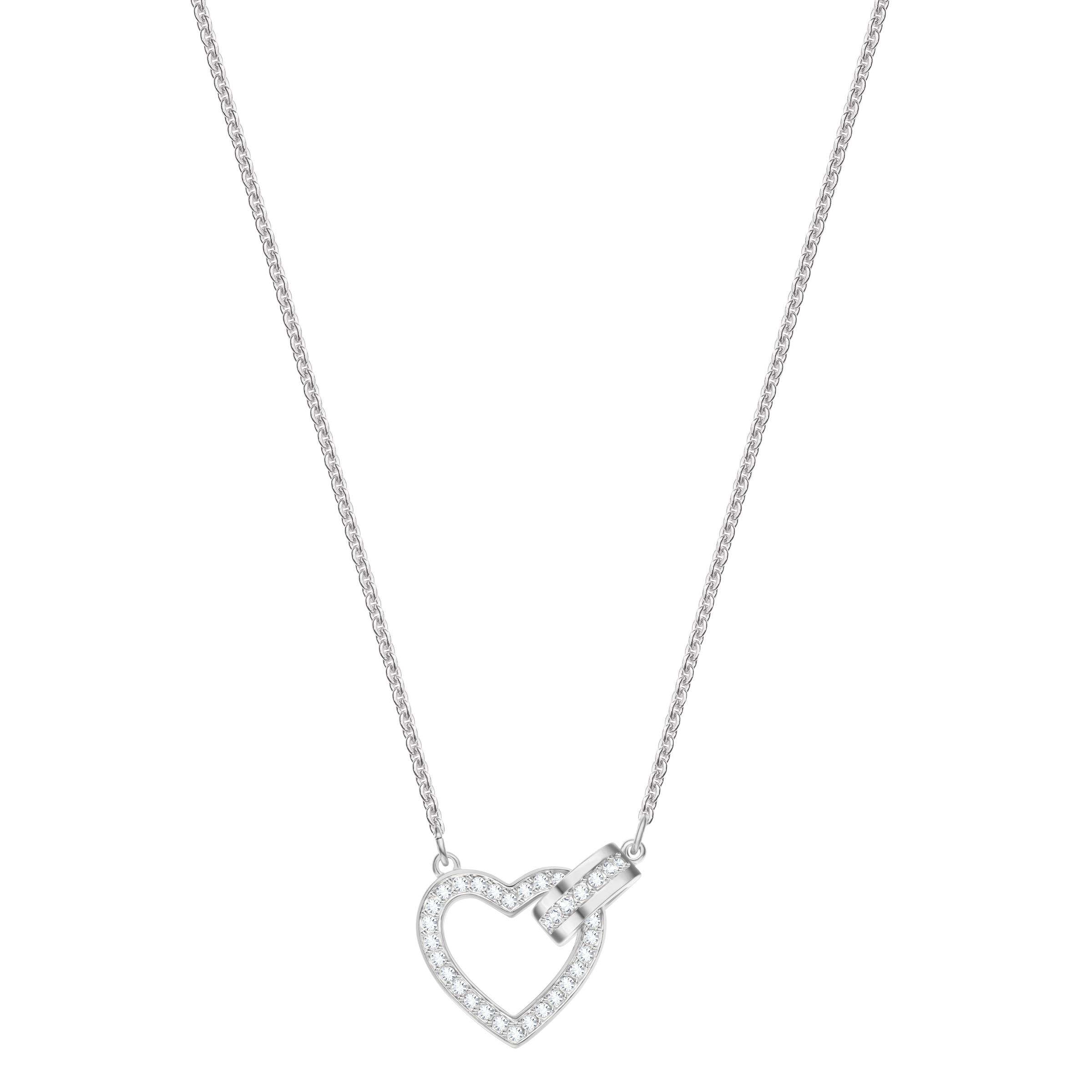 Lovely Necklace, White, Rhodium Plating