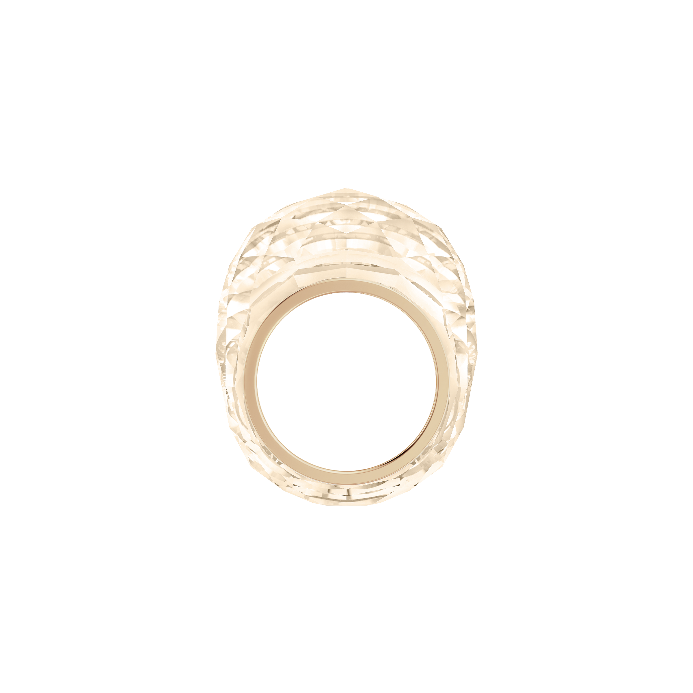Nirvana Ring, Pink, Rose-gold tone PVD