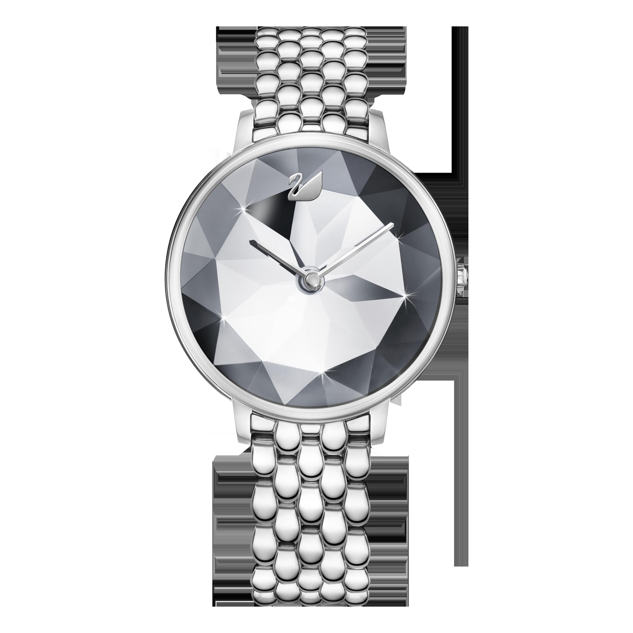 Crystal Lake Watch, Metal bracelet, White, Stainless steel