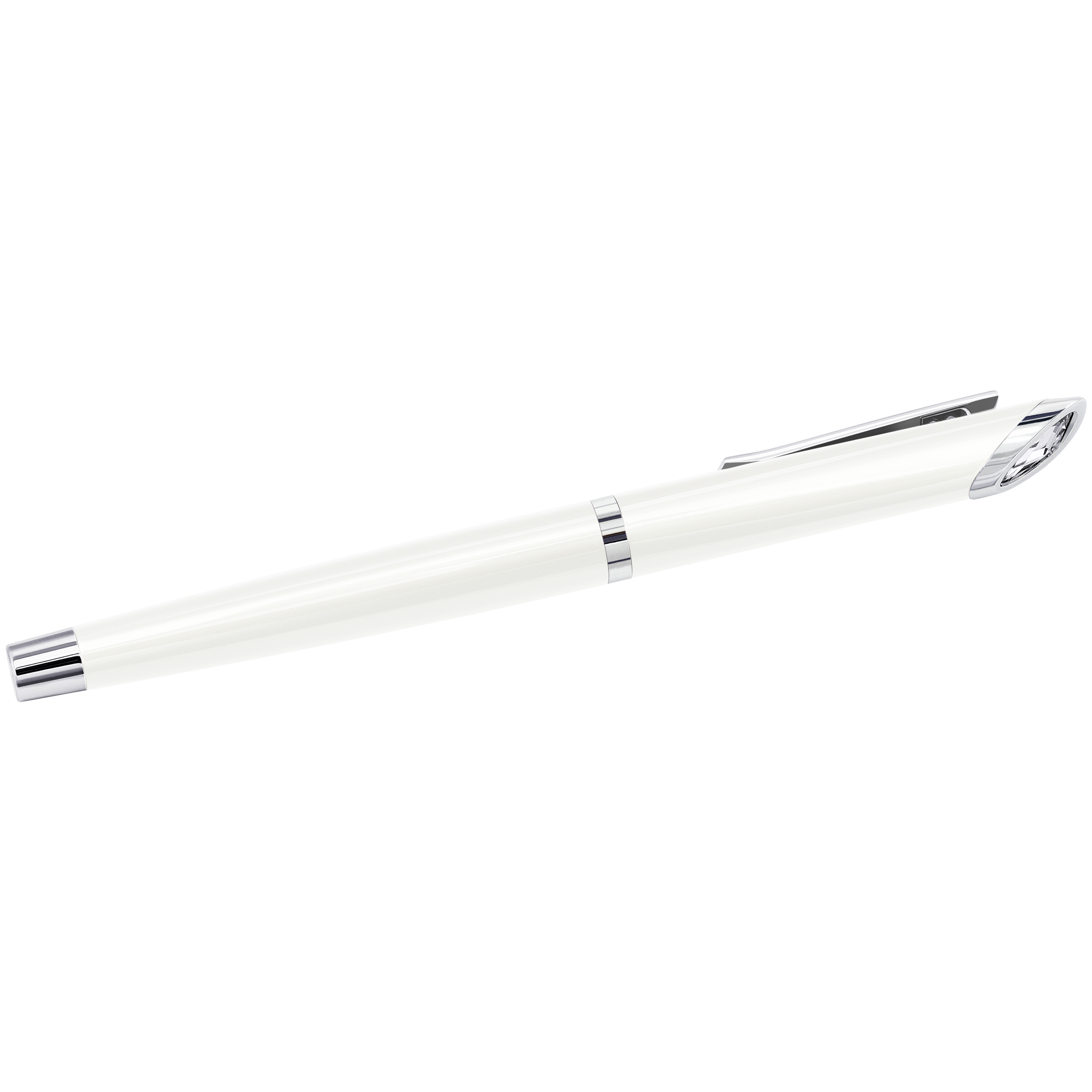 Crystal Starlight Rollerball Pen, White